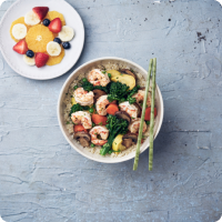 Healthy Bowl of Shrimp Salad